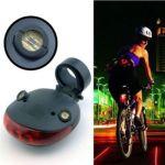 Задний фонарь для велосипеда Star с 2 лазерами 5 LED