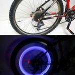 Удлиненные светодиодные колпачки для велосипедов прямой цилиндрической формы цвет синий