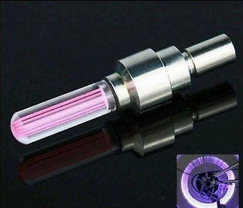 Удлиненные светодиодные колпачки для велосипедов прямой цилиндрической формы цвет розовый