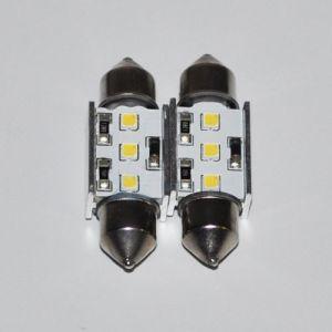 Светодиодная автолампа c5w Samsung SMD XPE, 3 CREE LED, холодного белого свечения