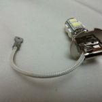 Светодиодная автолампа H3, 9 LED smd5050 холодного белого свечения