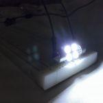 Светодиодная автолампа c5w smd 5050, 4 LED холодное белое свечение