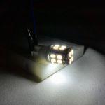 Светодиодная автолампа T10, 20 LED smd 3528 холодного белого свечения
