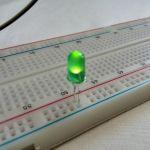 Круглый светодиод зеленого цвета свечения  (большой)