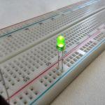 Круглый светодиод зеленого цвета свечения (маленький)