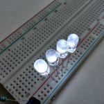 Прозрачный круглый светодиод (белое свечение)