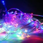 Светодиодная гирлянда 10 м многоцветная (RGB) от сети 220 В