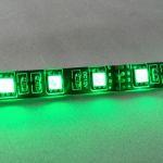Светодиодная лента smd 5050 RGB, водонепроницаемая на черной основе, 60 led на 1 метр