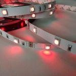Светодиодная лента smd 5050 RGB, на белой основе, 30 led на 1 метр