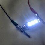 Светодиодная автолампа c5w smd 5050, 3 LED холодного белого свечения