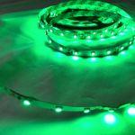 Светодиодная лента smd 3528, зеленое свечение, на белой основе, 60 led на 1 метр