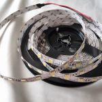Светодиодная лента smd 5050, холодное белое свечение, на белой основе, 60 led на 1 метр