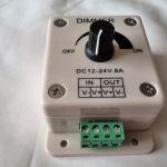 Диммер для управления одноцветной светодиодной лентой (DC 12-24 В, 8 А)