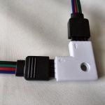 Коннектор для углового соединения светодиодных лент RGB