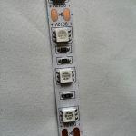Светодиодная лента smd 5050, красное свечение, на белой основе, 60 led на 1 метр