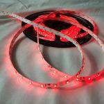 Светодиодная лента smd 3528, красное свечение, на белой основе, водонепроницаемая, 60 led на 1 метр