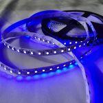 Светодиодная лента smd 3528, синие свечение, на белой основе, 120 led на 1 метр