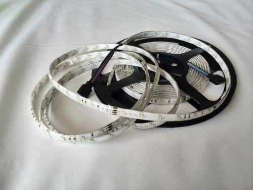 Светодиодная лента smd 3528 RGB, на белой основе, водонепроницаемая, 60 led на 1 метр