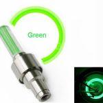 Удлиненные светодиодные колпачки для велосипедов прямой цилиндрической формы цвет зеленый