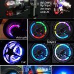 Уменьшенные круглые колпачки для велосипедов и автомобилей RGB