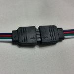 Четырехконтактный  коннектор для светодиодной ленты RGB smd 5050, 3528 Мама