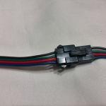 Четырехконтактный коннектор для светодиодной ленты RGB с фиксатором smd 5050, 3528 Мама