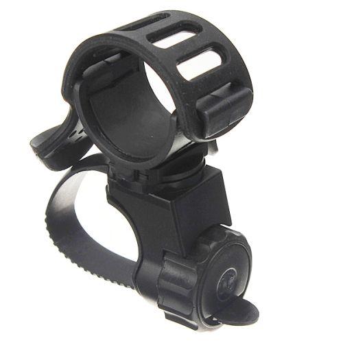 Держатель фонарика для велосипеда с поворотом 360 градусов и резиновым зажимом