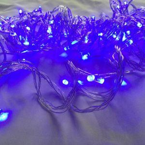 Светодиодная гирлянда синего свечения 10 м от сети 220 в