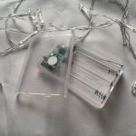 Светодиодная гирлянда белого свечения 2 м от батареек