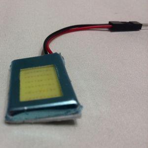 Светодиодная лампа для освещения панели автомобиля LED DOME light 18 светящих элементов, холодное белое свечение