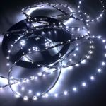 Светодиодная лента smd 335, холодное белое свечение, на черной основе (водонепроницаемая), 60 led на 1 метр