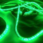 Светодиодная лента smd 3528 зеленое свечение, на белой основе, (водонепроницаемая) 120 led на 1 метр