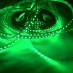 Светодиодная лента smd 3528 зеленое свечение, на белой основе,  120 led на 1 метр
