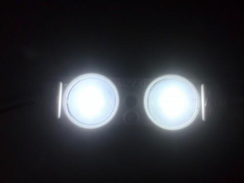 Светодиодный модуль LUX SMD 2835/2LED холодного белого свечения c линзой