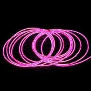 Гибкий холодный неон розового цвета свечения Flexible Neon