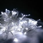 Светодиодная гирлянда 10 м холодного белого свечения от сети 220 В