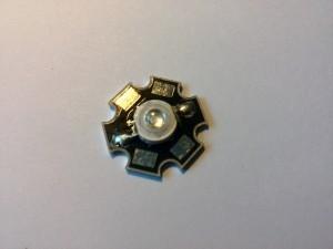 Светодиод LED Emitter Light with 20mm Star Base синего свечения 3 Вт